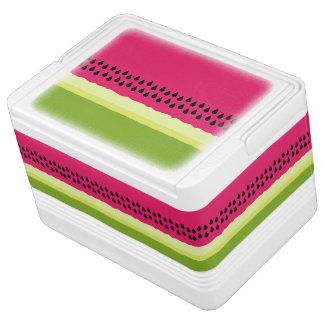 ピンクのスイカの切れのイグルーのクーラーボックス IGLOOクーラーボックス