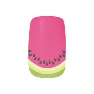 ピンクのスイカの切れのMinxのネイルアート ネイルステッカー