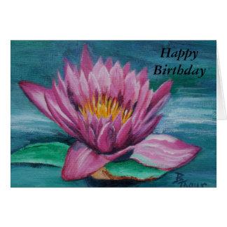 ピンクのスイレンのバースデー・カード グリーティングカード