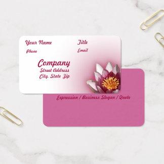 ピンクのスイレンの写真 名刺