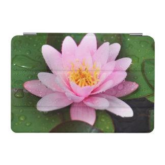 ピンクのスイレンの花柄の植物 iPad MINIカバー