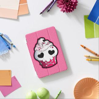 ピンクのスカルのカップケーキ iPad MINIカバー