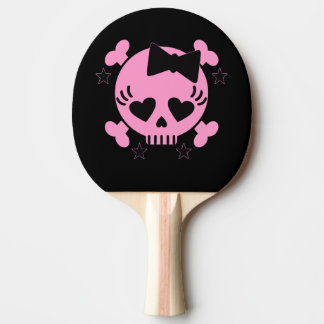 ピンクのスカルの卓球ラケット 卓球ラケット