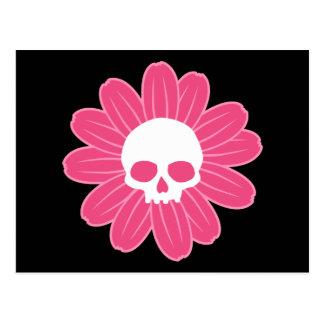 ピンクのスカルの花 ポストカード