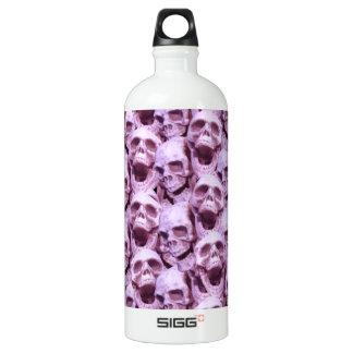 ピンクのスカル ウォーターボトル