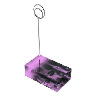 ピンクのスカル テーブルカードホルダー