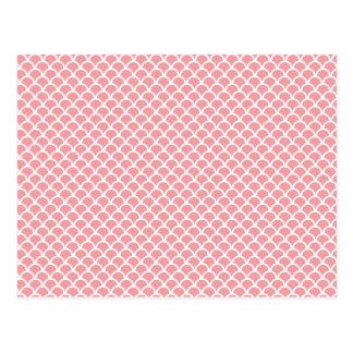 ピンクのスケール ポストカード