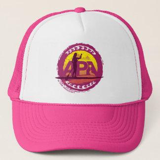 ピンクのスタンプの帽子 キャップ