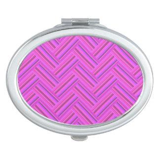 ピンクのストライブ柄の倍の織り方パターン