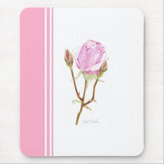 ピンクのストライプが付いている芽は上がり、 マウスパッド