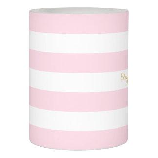 ピンクのストライプな結婚記念日のベビーシャワーの蝋燭 LEDキャンドル