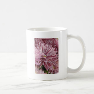 ピンクのストライプのな花 コーヒーマグカップ