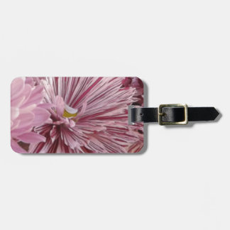 ピンクのストライプのな花 ラゲッジタグ