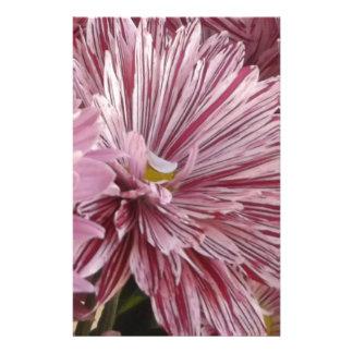 ピンクのストライプのな花 便箋