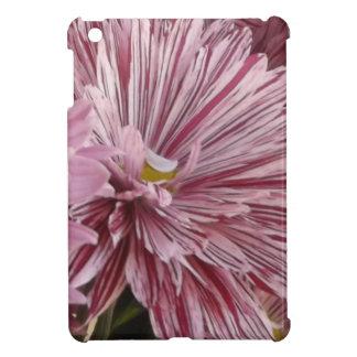 ピンクのストライプのな花 iPad MINIケース