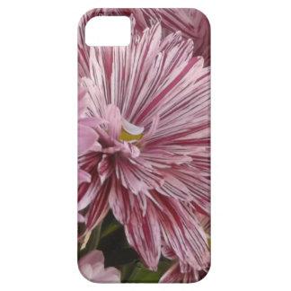 ピンクのストライプのな花 iPhone SE/5/5s ケース
