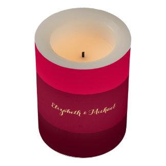 ピンクのストライプの結婚記念日の家の装飾の蝋燭 LEDキャンドル