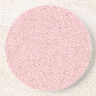 ピンクのスネークスキン コースター