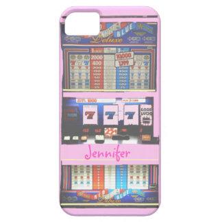 ピンクのスロットマシンのカジノの相場師 iPhone SE/5/5s ケース