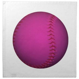 ピンクのソフトボール ナプキンクロス