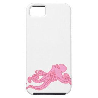 ピンクのタコのヴィンテージは航海のなピンクのかわいいkraken iPhone SE/5/5s ケース