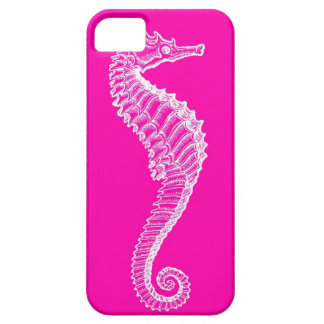 ピンクのタツノオトシゴのiPhoneの場合 iPhone 5 カバー
