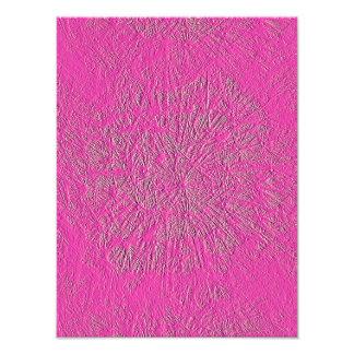 ピンクのタンポポ フォトプリント