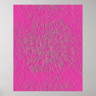 ピンクのタンポポ ポスター