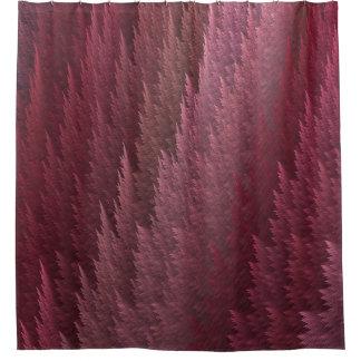 ピンクのタータンチェックの羽のシャワー・カーテン シャワーカーテン