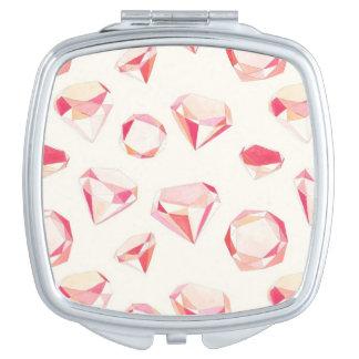 ピンクのダイヤモンドの幾何学的な手描き
