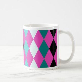 ピンクのダイヤモンド コーヒーマグカップ