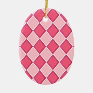 ピンクのダイヤモンド セラミックオーナメント