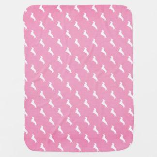 ピンクのダックスフントのプリント ベビー ブランケット