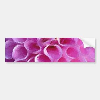 ピンクのダリアの花のマクロ バンパーステッカー