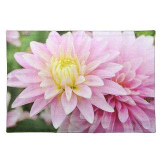 ピンクのダリアの花 ランチョンマット