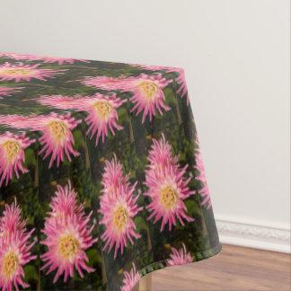 ピンクのダリア、かわいらしいテーブルクロス テーブルクロス
