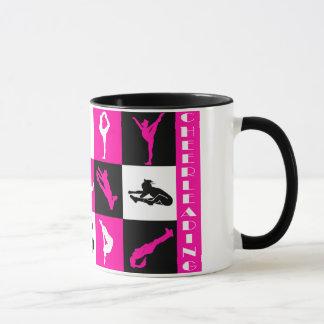 ピンクのチアリーダーをするブロックのマグ マグカップ
