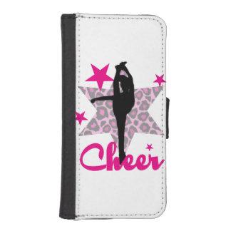 ピンクのチアリーダー iPhoneSE/5/5sウォレットケース