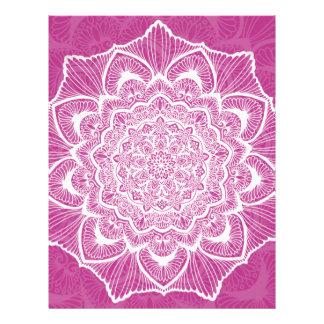 ピンクのチャクラの花、boho、ニューエイジ、スピリチュアル レターヘッド