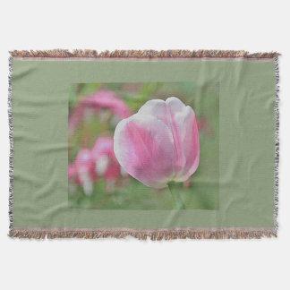 ピンクのチューリップの写真 スローブランケット