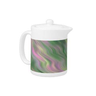 ピンクのチューリップの波状の質