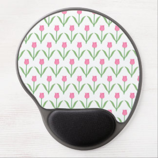 ピンクのチューリップの花柄パターン ジェルマウスパッド