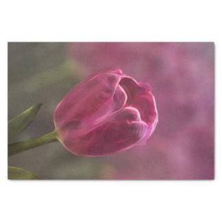 ピンクのチューリップの《写真》ぼけ味 薄葉紙