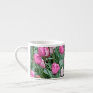 ピンクのチューリップ エスプレッソカップ
