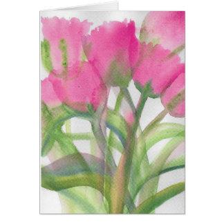 ピンクのチューリップ カード