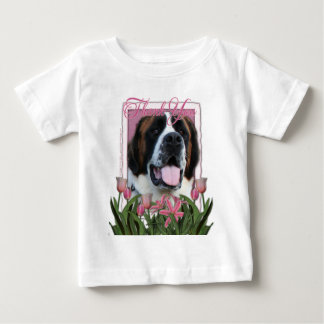 -ピンクのチューリップ-サンベルナール峠- Maeありがとう ベビーTシャツ