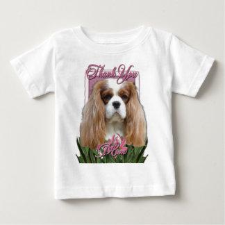 -ピンクのチューリップ-騎士- Blenheimありがとう ベビーTシャツ