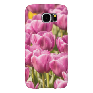 ピンクのチューリップ- Samsungの銀河系S6の箱 Samsung Galaxy S6 ケース