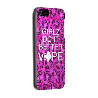 ピンクのチータガーリーなVape Incipio Feather® Shine iPhone 5 ケース