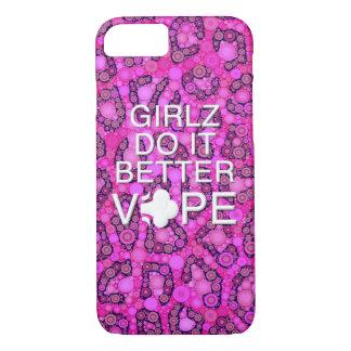 ピンクのチータガーリーなVape iPhone 7ケース